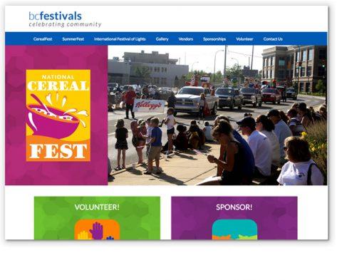 BC Festivals website