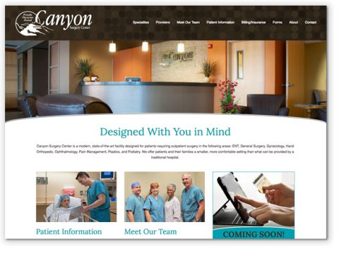 Canyon Surgery Center website