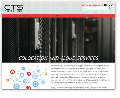 CTS Telecom website