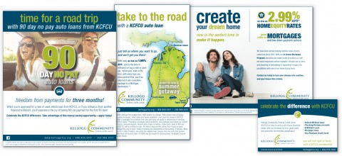 Selection of KCFCU ads