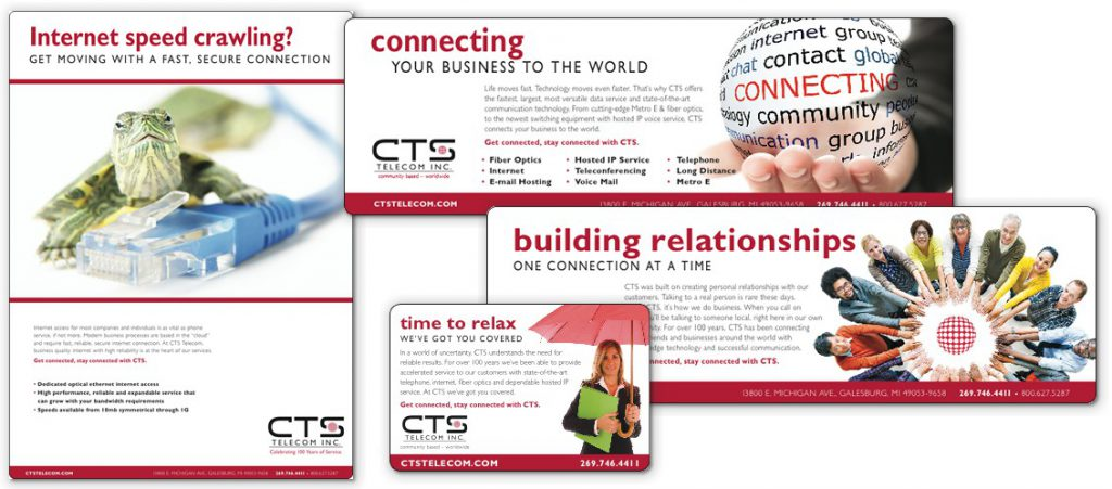 Selection of CTS Telecom ads